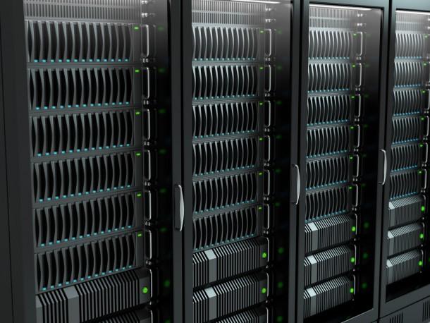 Very high resolution rendering of servers